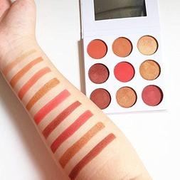TOPBeauty Burgundy Color Palette 9 Color In 1 Cosmetics Make