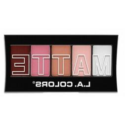 L.A. Colors Makeup Silky Smooth Matte Eyeshadow Palette CEM4